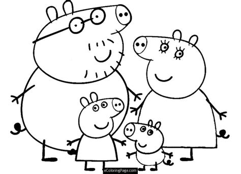 Peppa Coloring Pages free peppa pig house coloring pages