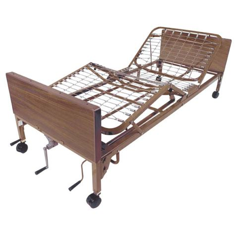 Hospital Bed by Manual Height Adjustable Hospital Bed
