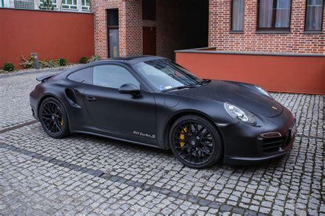 Schwarzer Porsche by Stunning Matte Black Porsche 911 Turbo S Gtspirit