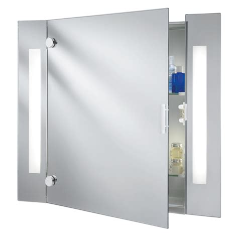 bathroom mirror shaver searchlight 6560 ip44 illuminated bathroom mirror cabinet