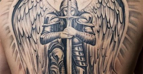 Angel With Sword Tattoo Design On Back Http Ngel With Sword Tattoos For