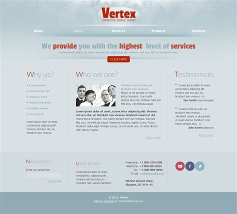 Free Web Template For Business Project Free Project Website Templates