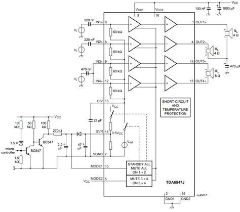 Tda8947j 3 channel audio lifier lifiercircuits