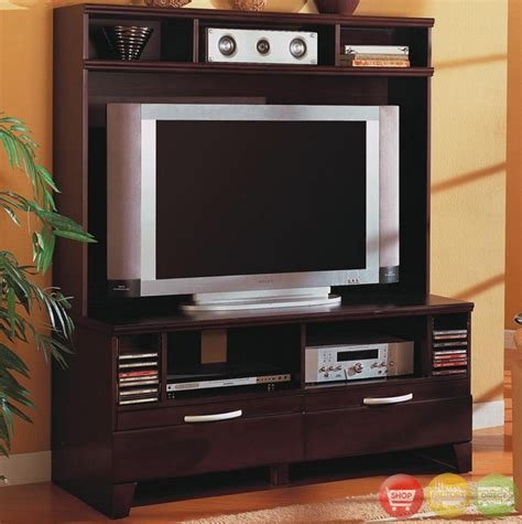modern wall unit entertainment centers cappuccino contemporary wall unit entertainment center
