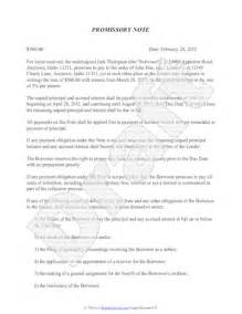 promissory note template free sample promissory note
