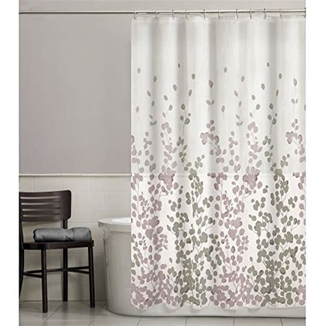 purple fabric shower curtains maytex sylvia printed faux silk fabric shower curtain