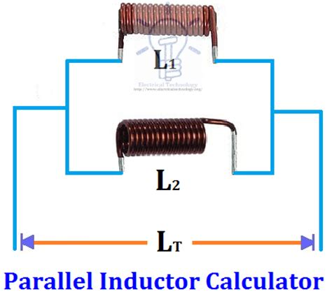 calculate total inductance parallel parallel inductor calculator electrical technology