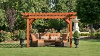 Backyard Discovery Hanging Pergola Swing Cedar Pergola With Sturdy Beams For Patio Shade And