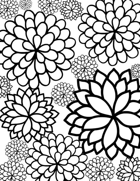 free coloring pages free printable flower coloring pages for best