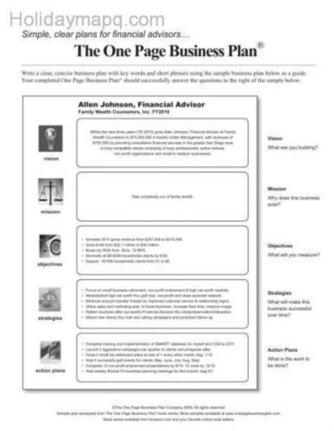 business plan template for financial advisors business plan sle map travel holidaymapq