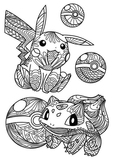 Pokemon Coloring Pages For Adults | you caught it free pokemon adult coloring sheet craft