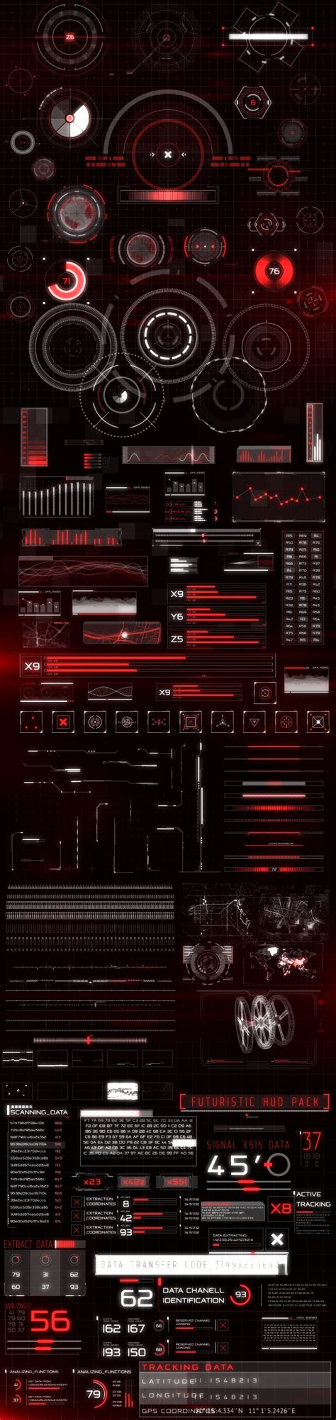 hud infographic technology envato videohive after
