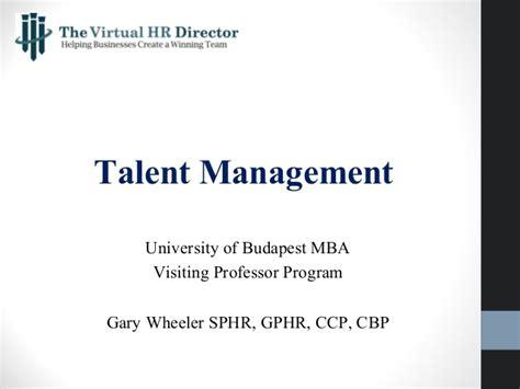 Hr Management Mba Notes by Talent Management 5 23 15