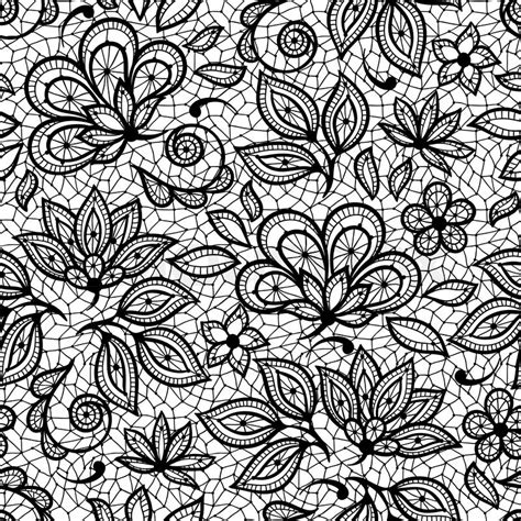 Flowers Lace lace seamless pattern ornamental flowers vector