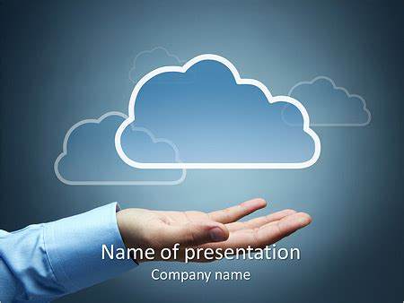 Cloud Picture Powerpoint Template Backgrounds Id 0000004406 Smiletemplates Com Cloud Template For Powerpoint