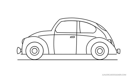volkswagen bug drawing how to draw a vw beetle car drawing for
