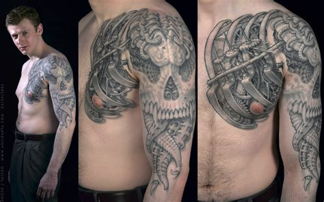 3d chest tattoo 3d images designs