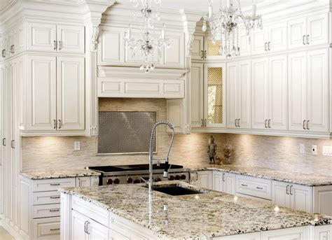 Kitchen With White Cabinets by Antique White Kitchen Cabinets Improving Room Coziness