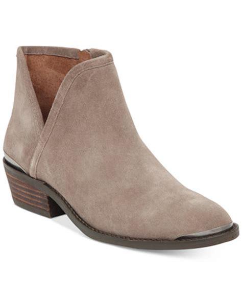 macy s lucky brand boots lucky brand s keezan block heel booties boots