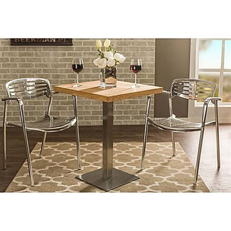 Bed Bath And Beyond Bistro Table Buy Baxton Studio Owen Bistro Table In Brown From Bed Bath Beyond