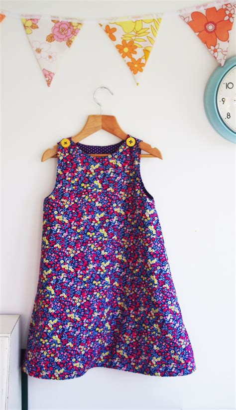 alice childrens reversible   dress sewing pattern