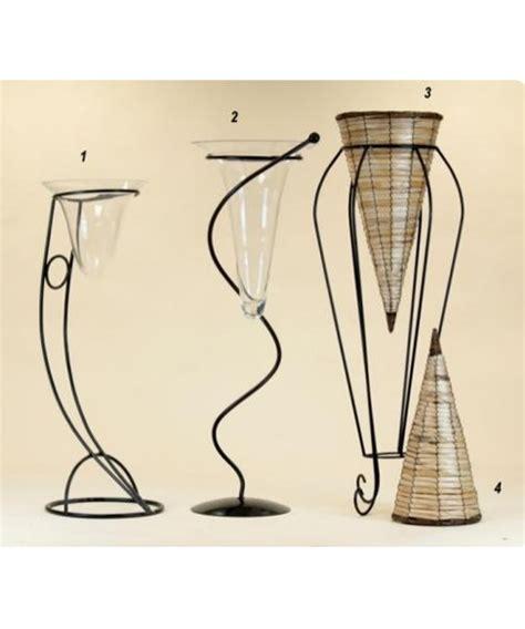 vasi in ferro colonna portafiori in ferro battuto nero ac005