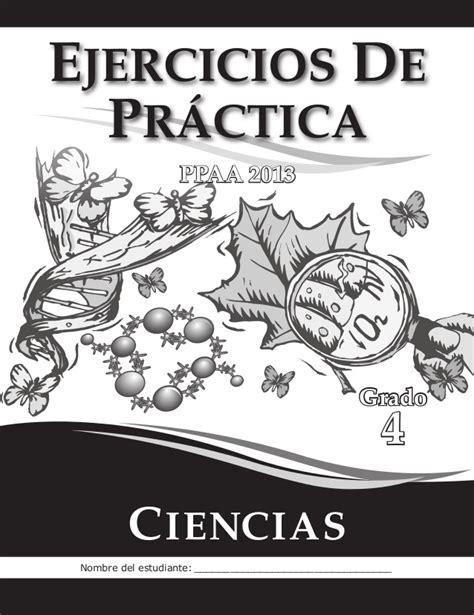 ciencia de 10 grado ejercicios ejercicios de pr 225 ctica ciencias 4grado 2013