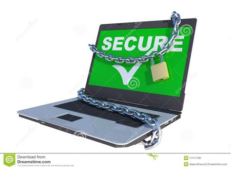Sell Hack by Secure Laptop Royalty Free Stock Images Image 17117799