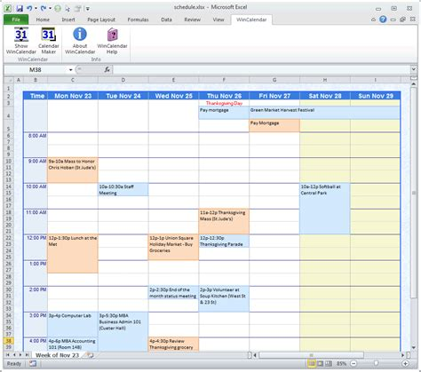 schedule builder template schedule template free