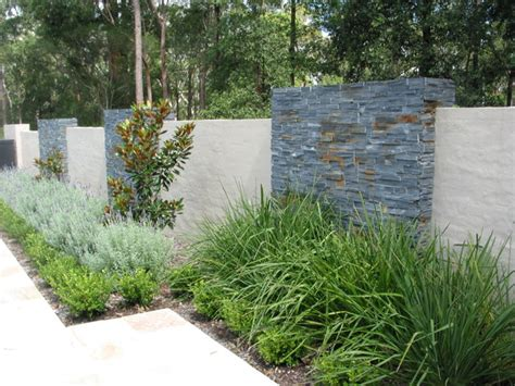 Garden Feature Wall Designs Feature Wall Contemporary Landscape Sydney By