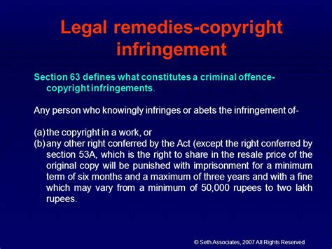 copyright act section 63 karnika seth attorney at law partner ppt download