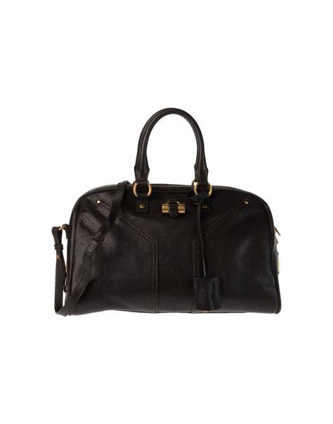 Yves Laurent Yves Laurent Rive Gauche Handbags Miller And by Yves Laurent Rive Gauche Medium Leather Bag In Brown