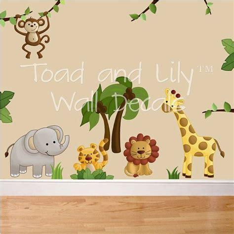 safari animal wall stickers jungle animal safari wall decals or boys bedroom baby nursery a