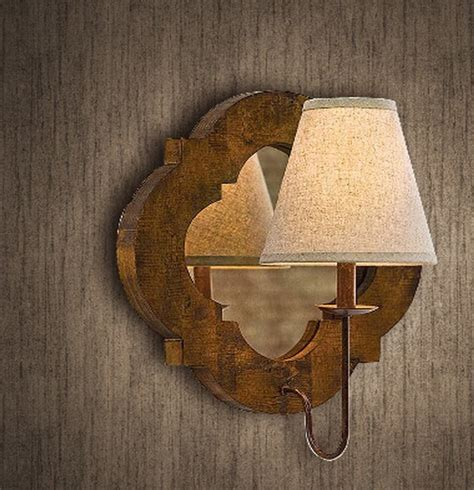 Wood Wall Sconce Light Antique Original Wood And Mirror Wall Sconce