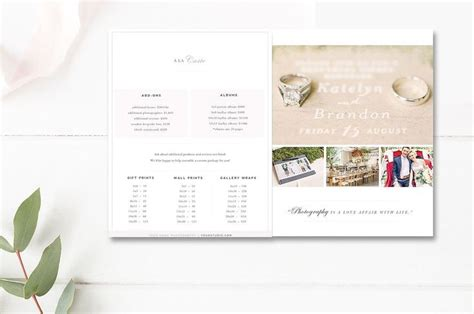 Best 25 Photography Price List Ideas Only On Pinterest Photography And Videography Nikon D1 Indesign Price List Template