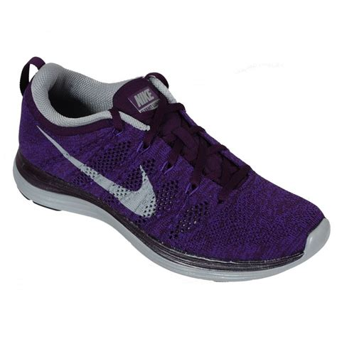 womens purple athletic shoes nike flyknit lunar 1 s running shoe purple