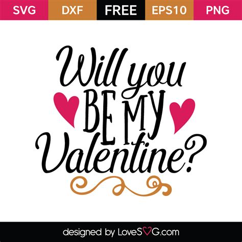 Will You Be My will you be my lovesvg