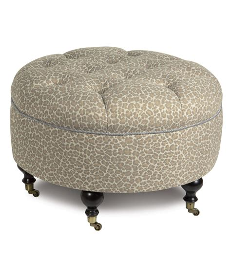 round ottoman with casters luxury bedding by eastern accents parrish fawn round ottoman