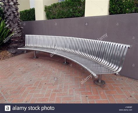 curved bench seat a curved bench seat stock photo royalty free image