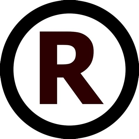 trade symbol free vector graphic trademark rights letter circle