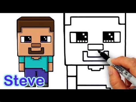 how to draw steve from minecraft and easy for