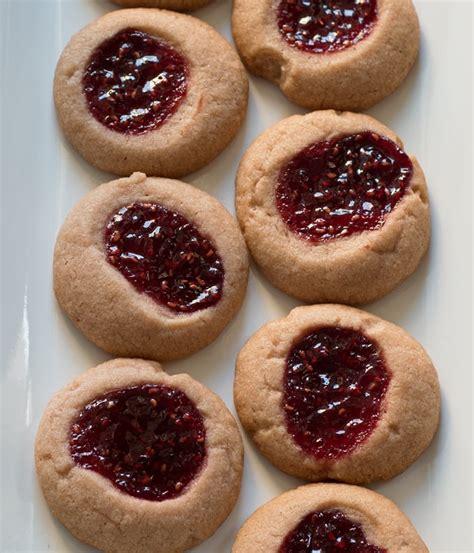 chocolate raspberry cookies recipes dishmaps chocolate raspberry thumbprints recipe dishmaps