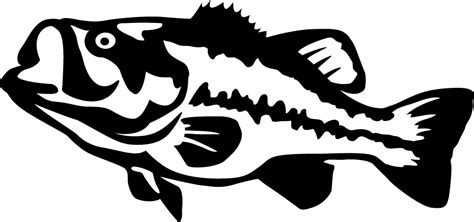 Wall Stencils Stickers largemouth bass detailed wall decal