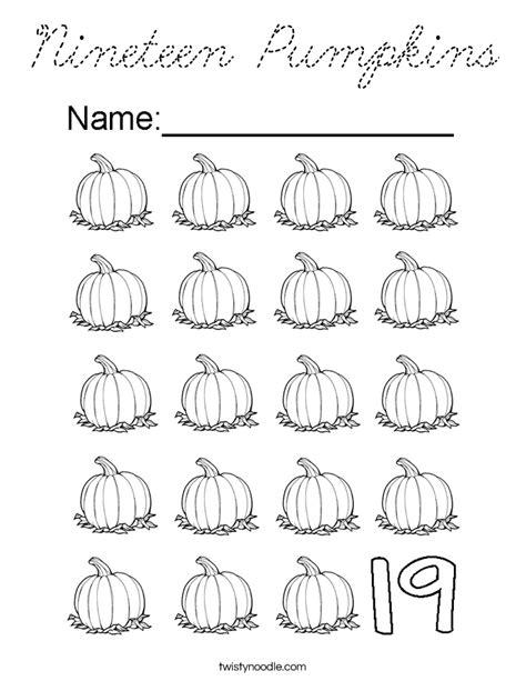 many pumpkins coloring page nineteen pumpkins coloring page cursive twisty noodle