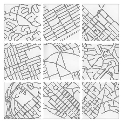 Grid Pattern Streets | carbon trace our urban challenge the numbers game