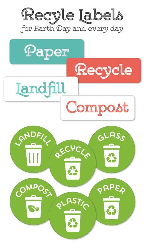 Recycle Labels For Your Home Office Recycling Center Worldlabel Blog Bin Labels Template