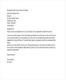 Church Resignation Letter Sle by Church Resignation Letter Template 9 Free Word Pdf Document Free Premium Templates