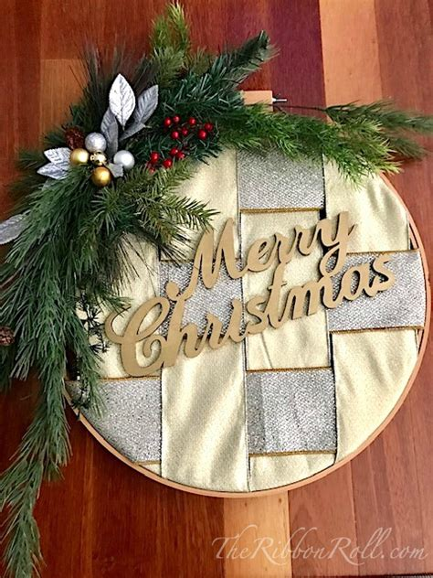 embroidery hoop ribbon christmas wreath  ribbon roll blog