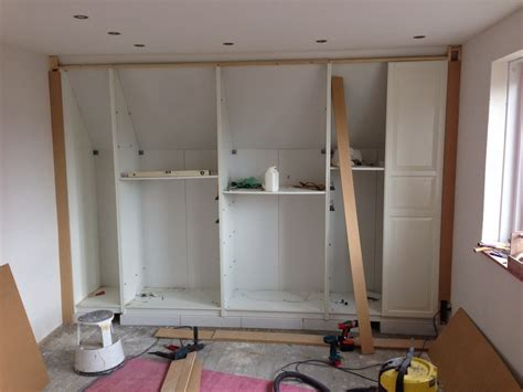 kleiderschrank bauen pax built in for sloping ceiling ikea hackers ikea hackers