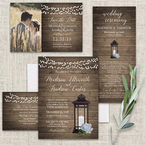Lantern Wedding Invitations